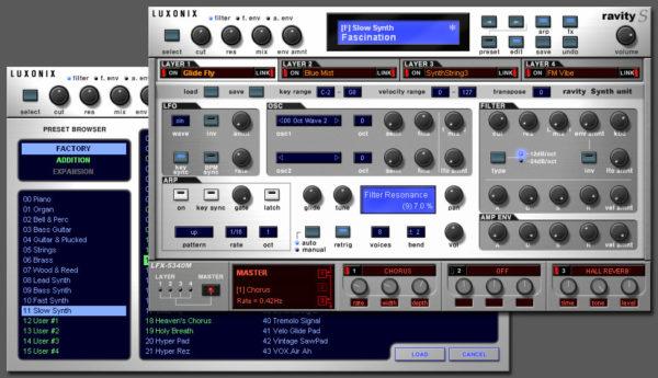 Плагин FL Studio: LUXONIX Ravity