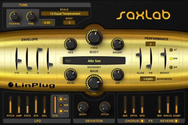 LinPlug SaxLab 2 VSTi плагин саксофона
