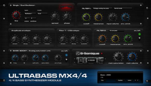 G-Sonique Ultrabass MX4 VSTi плагин для dance музыки